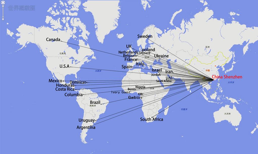 出口主要国家指示图(1)